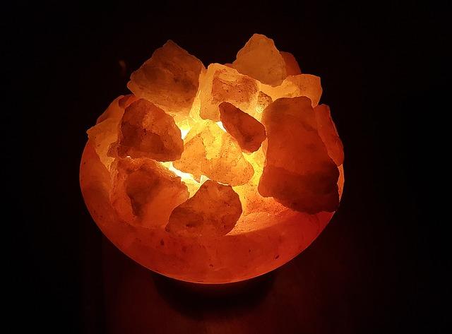 krystalová lampa